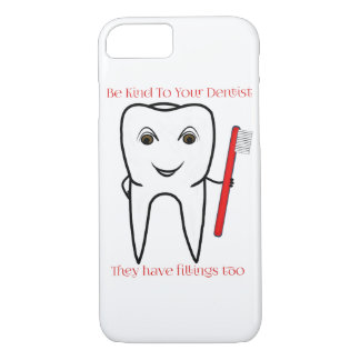 Capa iPhone 8/7 Seja amável a seu dentista engraçado