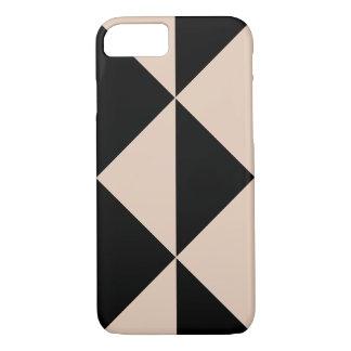 Capa iPhone 8/7 Seta do pêssego + Cor preta variável do fundo