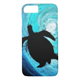 Capa iPhone 8/7 Silhueta da tartaruga de mar (arte de Kimberly