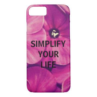 Capa iPhone 8/7 Simplifique sua vida (floral)