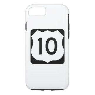 Capa iPhone 8/7 Sinal da rota 10 dos E.U.