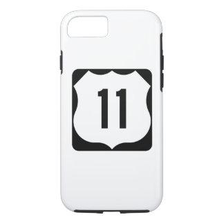 Capa iPhone 8/7 Sinal da rota 11 dos E.U.