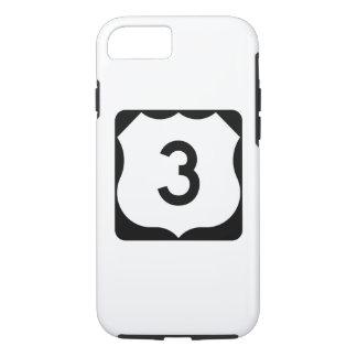 Capa iPhone 8/7 Sinal da rota 3 dos E.U.
