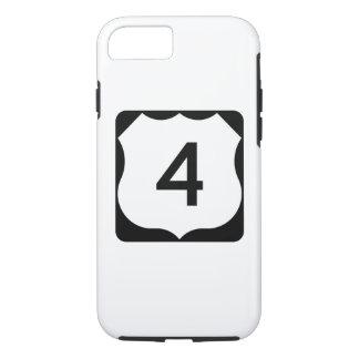 Capa iPhone 8/7 Sinal da rota 4 dos E.U.