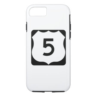 Capa iPhone 8/7 Sinal da rota 5 dos E.U.