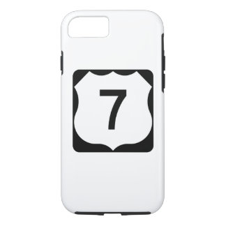 Capa iPhone 8/7 Sinal da rota 7 dos E.U.