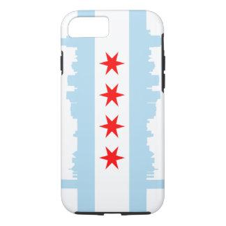 Capa iPhone 8/7 Skyline da bandeira de Chicago