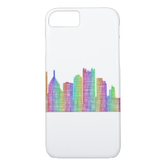 Capa iPhone 8/7 Skyline da cidade de Pittsburgh