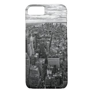 Capa iPhone 8/7 Skyline de New York preto e branco