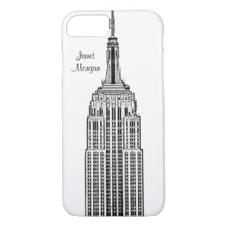 Capa iPhone 8/7 Skyline de NYC - olhar gravado Empire State
