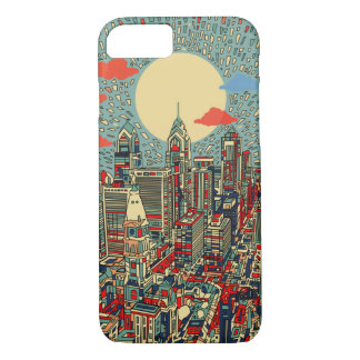 Capa iPhone 8/7 skyline de Philadelphfia