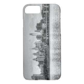 Capa iPhone 8/7 Skyline de Philadelphfia em preto e branco