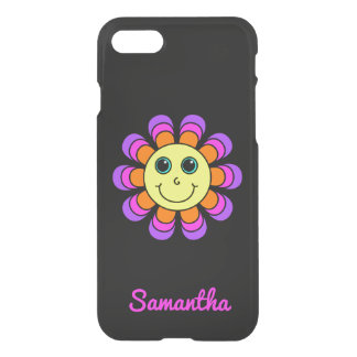 Capa iPhone 8/7 Smiley face de flower power personalizado