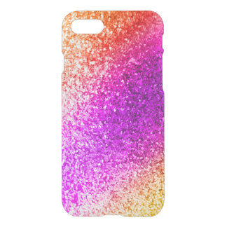Capa iPhone 8/7 Sparkles coloridos do brilho - ouro roxo