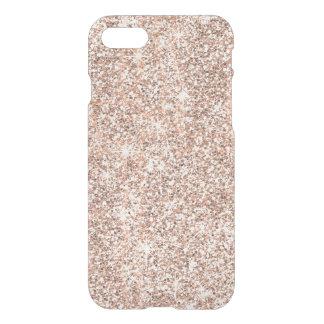 Capa iPhone 8/7 Sparkles modernos do brilho do ouro do rosa do