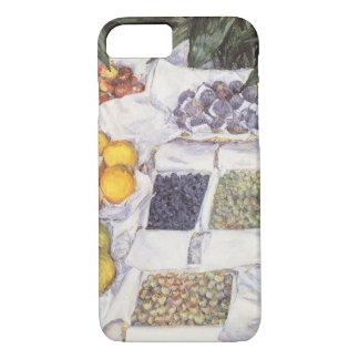 Capa iPhone 8/7 Suporte de fruta por Gustave Caillebotte, arte do