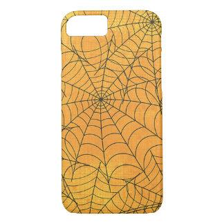 Capa iPhone 8/7 Teste padrão amarelo engraçado das Web de aranha