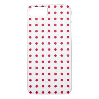 Capa iPhone 8/7 teste padrão de bolinhas vermelho