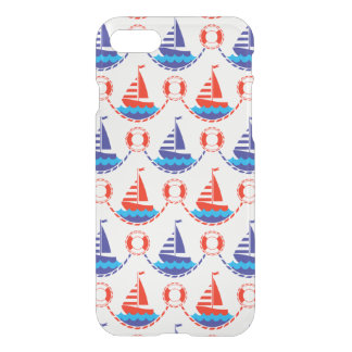 Capa iPhone 8/7 Teste padrão do barco de vela