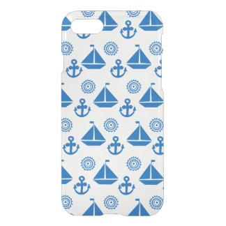 Capa iPhone 8/7 Teste padrão do barco de vela dos desenhos