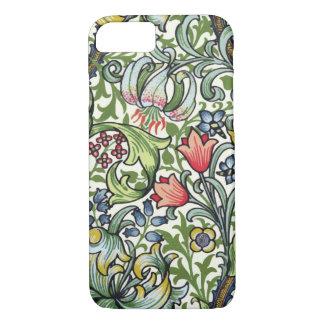 Capa iPhone 8/7 Teste padrão floral de chintz do lírio dourado de