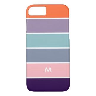 Capa iPhone 8/7 Teste padrão multicolorido moderno das listras