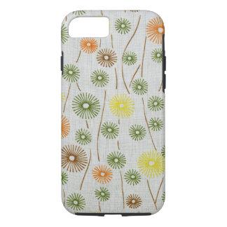 Capa iPhone 8/7 Teste padrão retro colorido floral abstrato dos