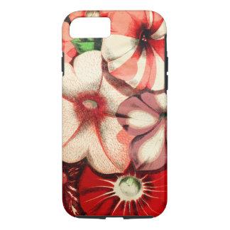 Capa iPhone 8/7 Teste padrão retro floral vermelho do abstrato da