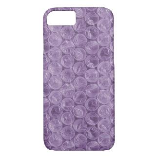 Capa iPhone 8/7 Teste padrão roxo do invólucro com bolhas de ar