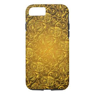 Capa iPhone 8/7 texturas do redemoinho do ouro