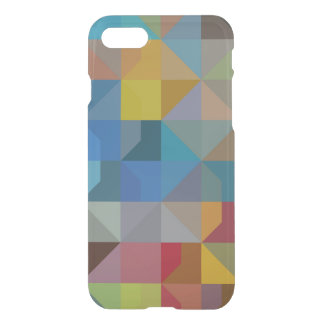 Capa iPhone 8/7 Triângulos multicoloridos e diamantes da arte de