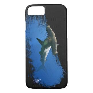 Capa iPhone 8/7 Tubarão de Hammerhead na caixa escura do iphone 6