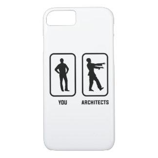 Capa iPhone 8/7 Um Normal você contra um zombi do arquiteto