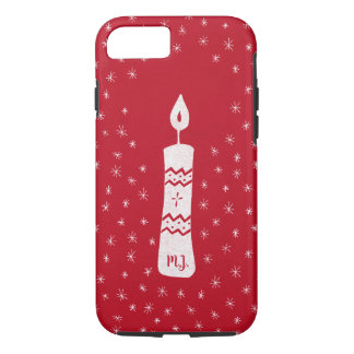Capa iPhone 8/7 Vela do Natal com as estrelas sparkling no