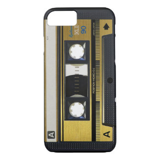 Capa iPhone 8/7 velha escola da cassete de banda magnética do caso