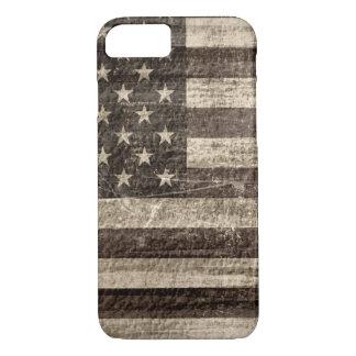 Capa iPhone 8/7 Vintage da bandeira americana