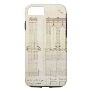 Capa iPhone 8/7 Vintage do modelo da arquitetura da ponte de