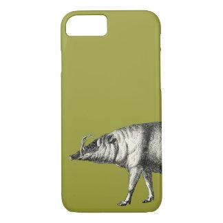 Capa iPhone 8/7 Vintage selvagem de Warthog do porco do varrão do