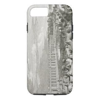 Capa iPhone 8/7 Vista do castelo de Trianon, o parterre (engr