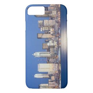 Capa iPhone 8/7 WA, skyline de Seattle, Seattle e Elliott latem, 2