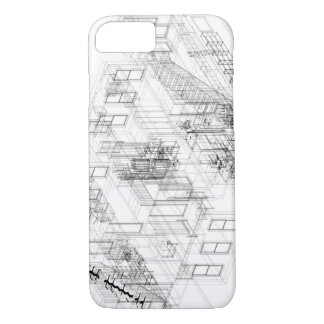 Capa iPhone 8/7 wireframe arquitectónico