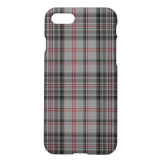 Capa iPhone 8/7 Xadrez de Tartan preta vermelha do carvão vegetal
