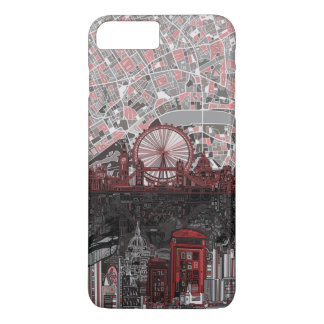 Capa iPhone 8 Plus/7 Plus abstrato da skyline de Londres