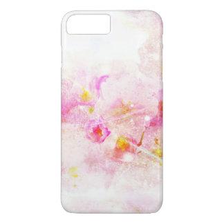 Capa iPhone 8 Plus/7 Plus abstrato do romance do vintage da flor de