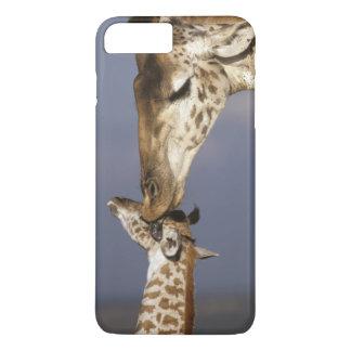 Capa iPhone 8 Plus/7 Plus África, Kenya, Masai Mara. Girafas (girafa