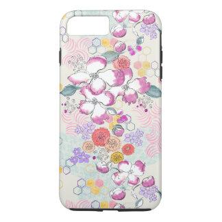 Capa iPhone 8 Plus/7 Plus Aguarela floral