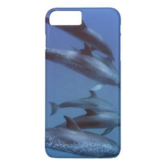 Capa iPhone 8 Plus/7 Plus Atlântico manchou golfinhos. Bimini, Bahamas.
