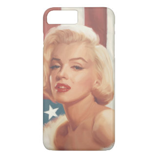 Capa iPhone 8 Plus/7 Plus Bandeira de Marilyn