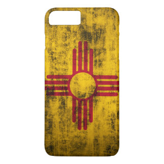 Capa iPhone 8 Plus/7 Plus Bandeira de New mexico do Grunge