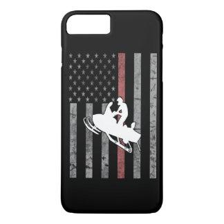 Capa iPhone 8 Plus/7 Plus Bandeira do Snowmobile